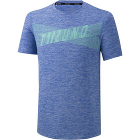 Mizuno Core Graphic T-shirt Heren, dazzling blue